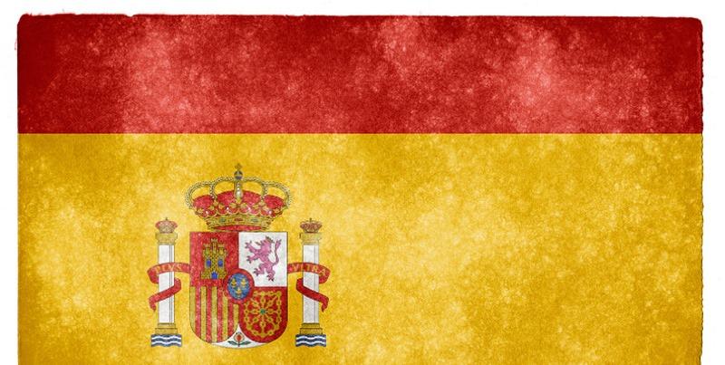 bandera española descascarillada