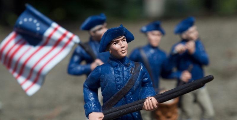 soldados de plomo norteamericanos de epoca