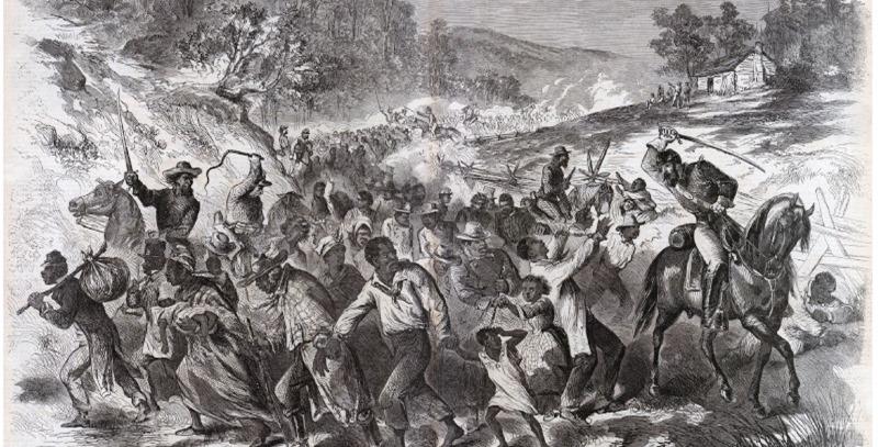 litografia esclavos negros