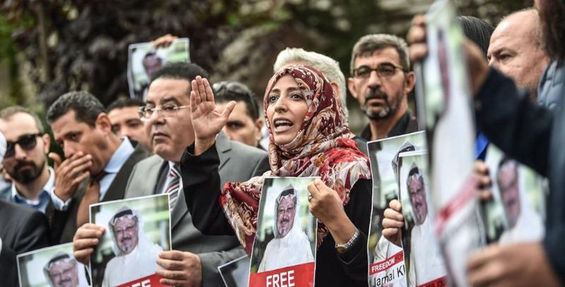 protestas desaparicion jamal kashoggi