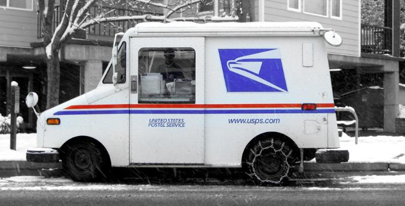 camioneta de reparto servicio postalç