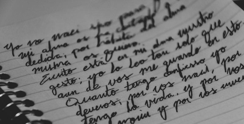 castellano escrito a mano