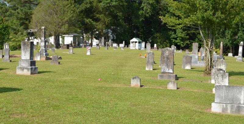 cementerio ajardinado