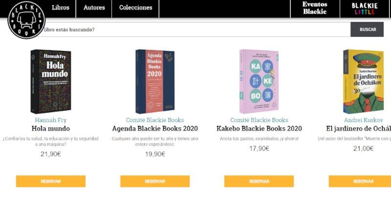 pagina de aterrizaje de blackie books